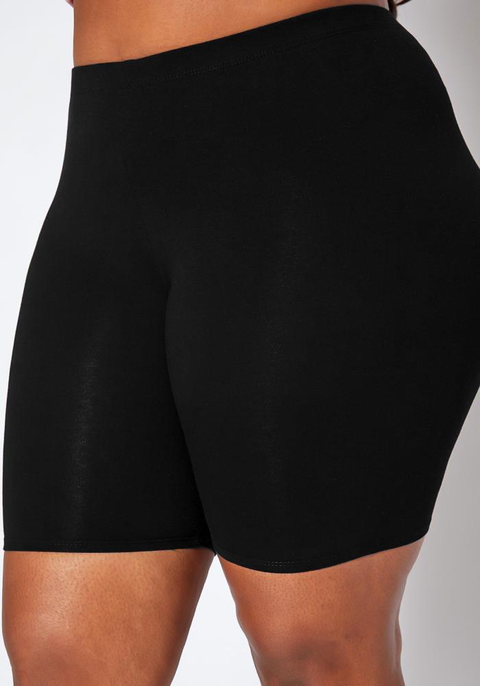 Plus Size High Waisted Swim Shorts