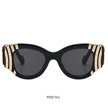 1 Pair Metal Detail Cat Eye Frame Sunglasses