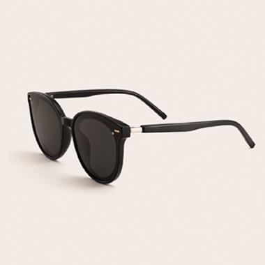1 Pair TR Cat Eye Frame Black Sunglasses