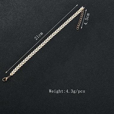 Metal Detail Bohemian Arrow Design Gold Anklet