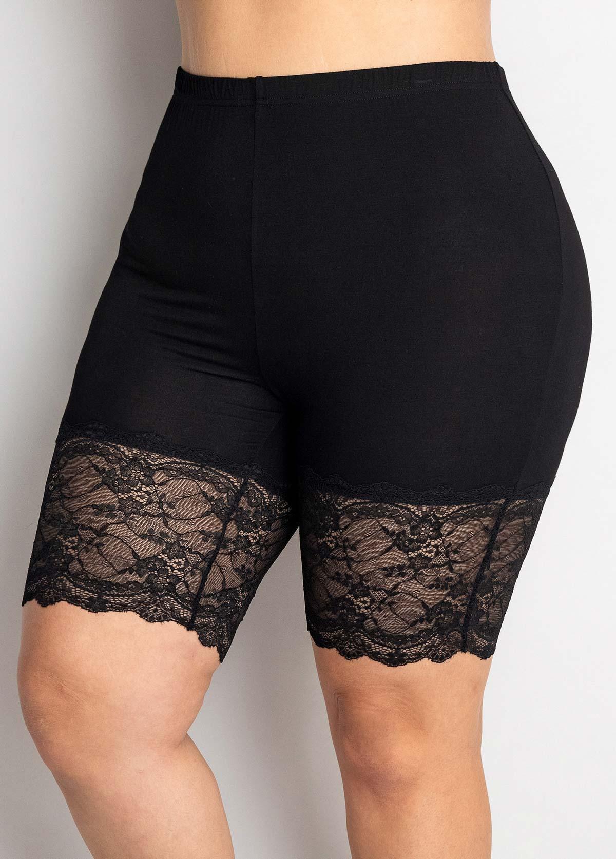 High Waisted Plus Size Lace Stitching Legging