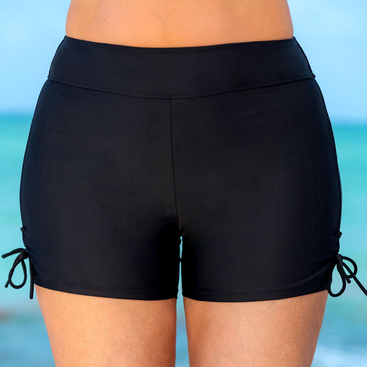 Drawstring High Waist Tie Side Swim Shorts