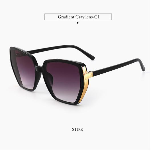 1 Pair Purple Cat Eye Detail Sunglasses for Women