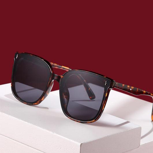 Leopard Cat Eye Frame Multi Color Sunglasses