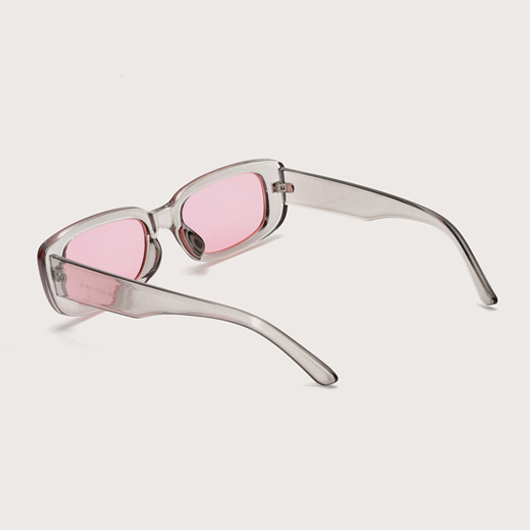 1 Pair TR Pink Rectangle Frame Sunglasses