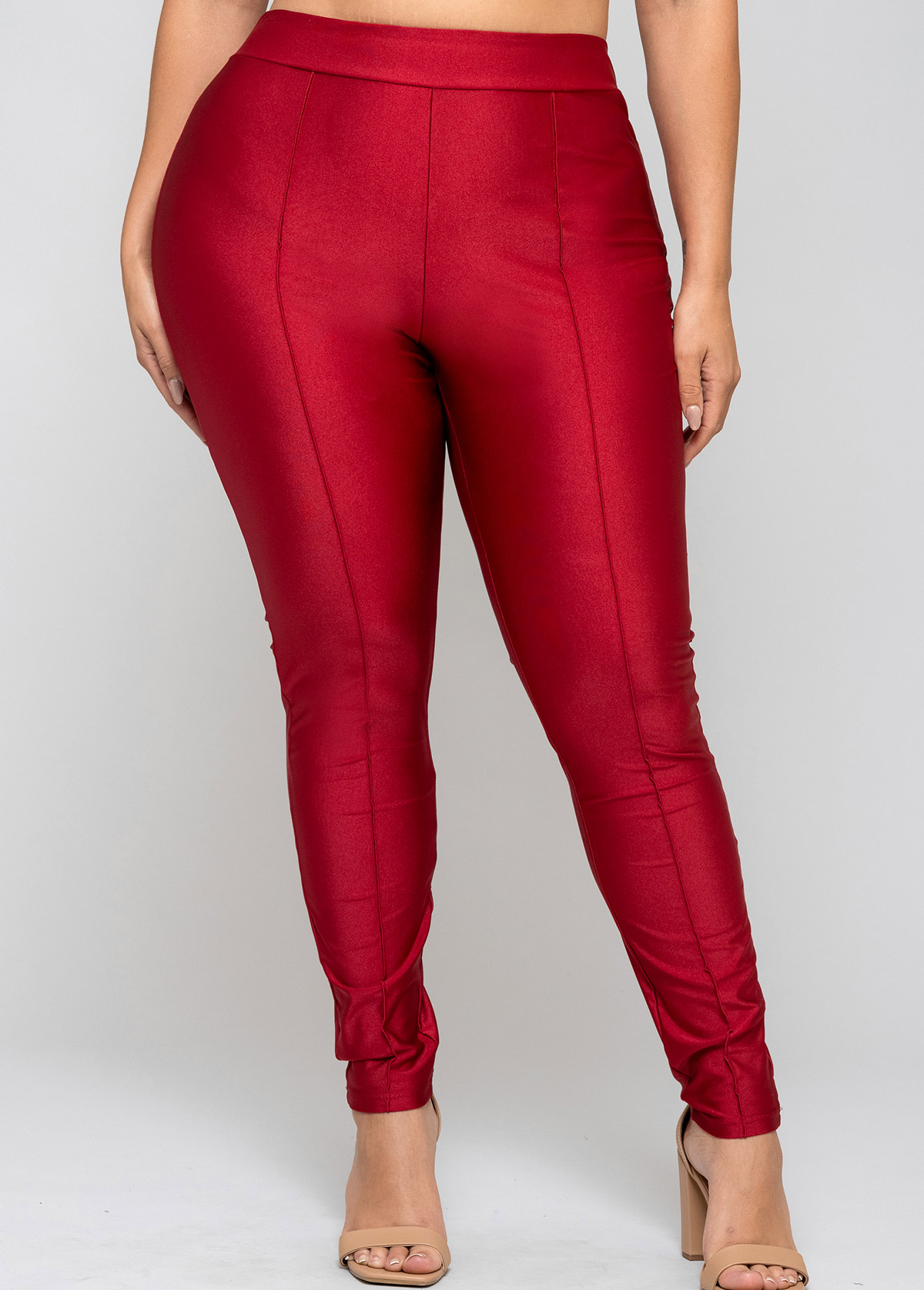 Solid Plus Size High Waisted Legging