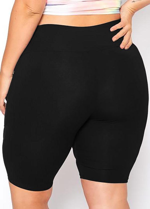 Mesh Stitching Plus Size Mid Waist Swim Shorts
