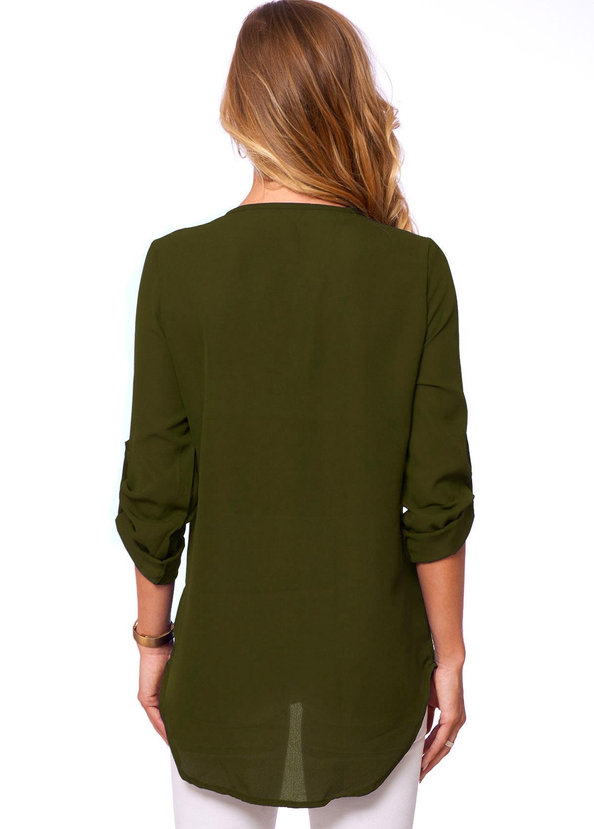Solid Quarter Zip Long Sleeve T Shirt