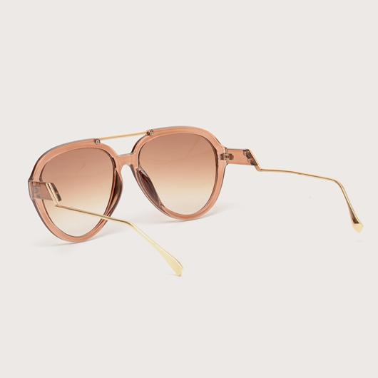 TR Metal Detail Cat Eye Frame Sunglasses