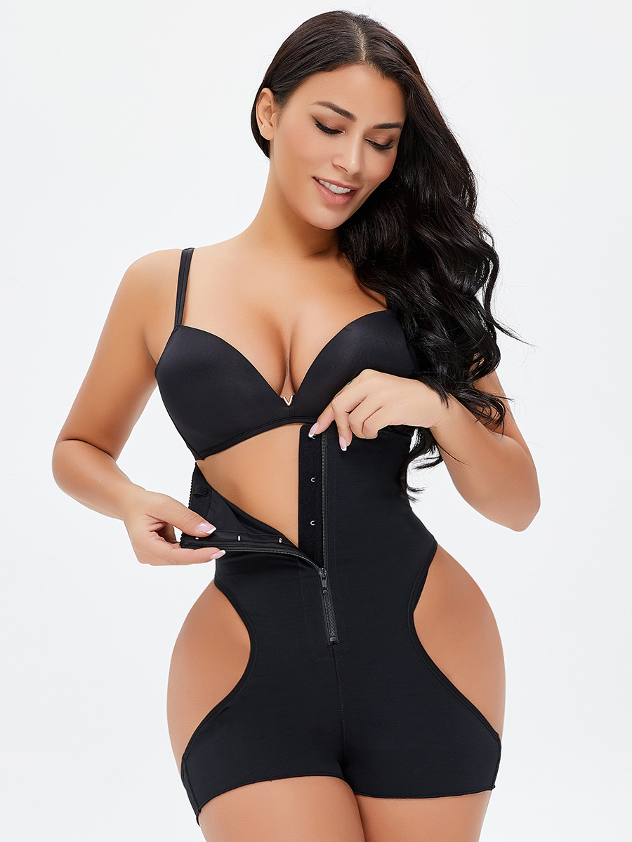 Cutout Skinny Solid Wide Strap Panties