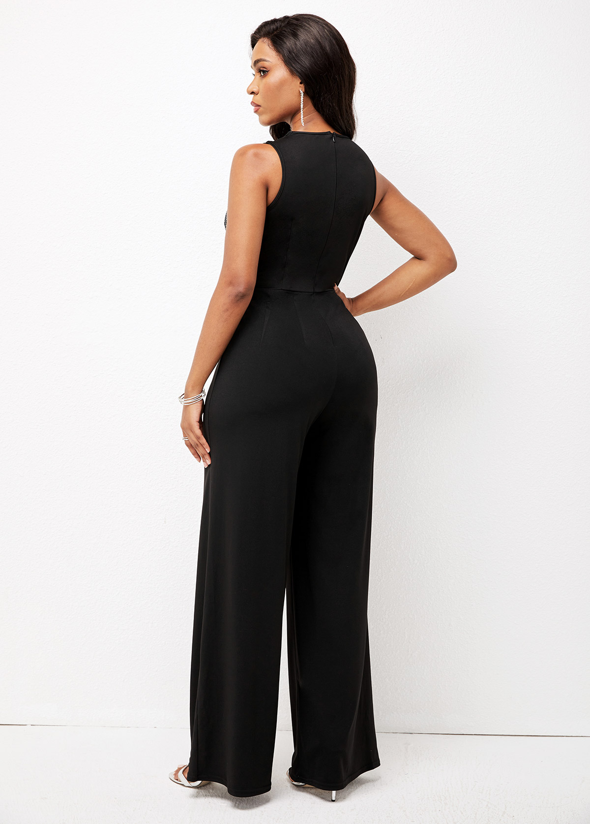 High Waisted Loose Multi Straps Jumpsuit