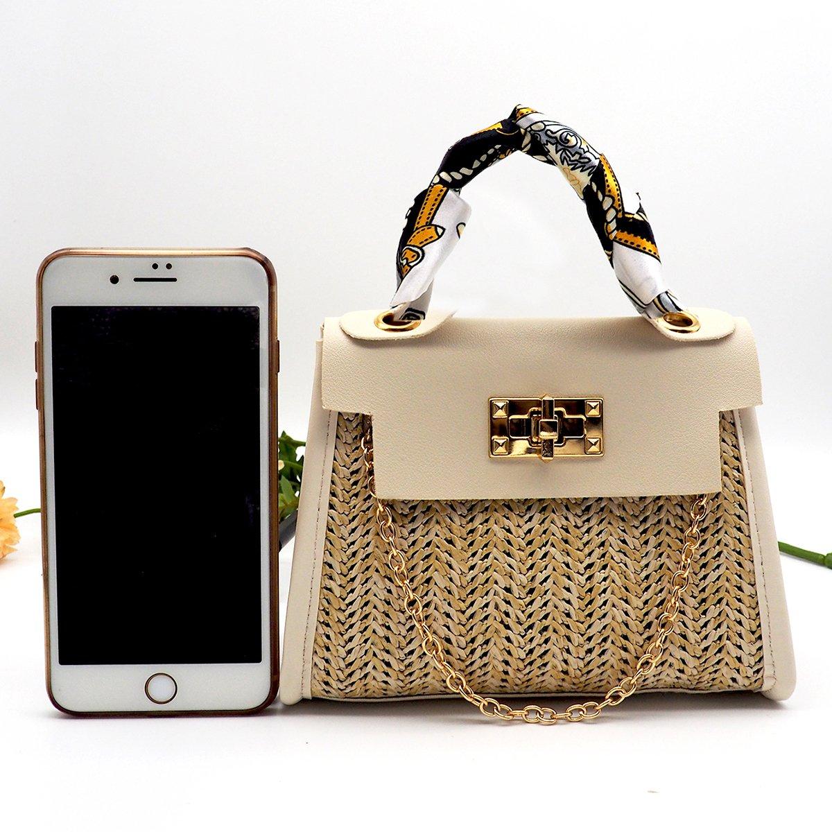 Knitted Gold Chain Retro CrossBody Messenger Bag