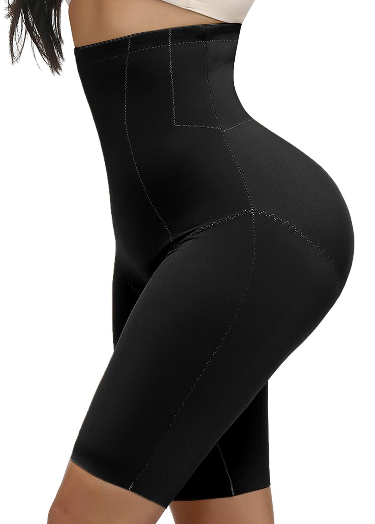 High Waisted Elastic Detail Solid Panties
