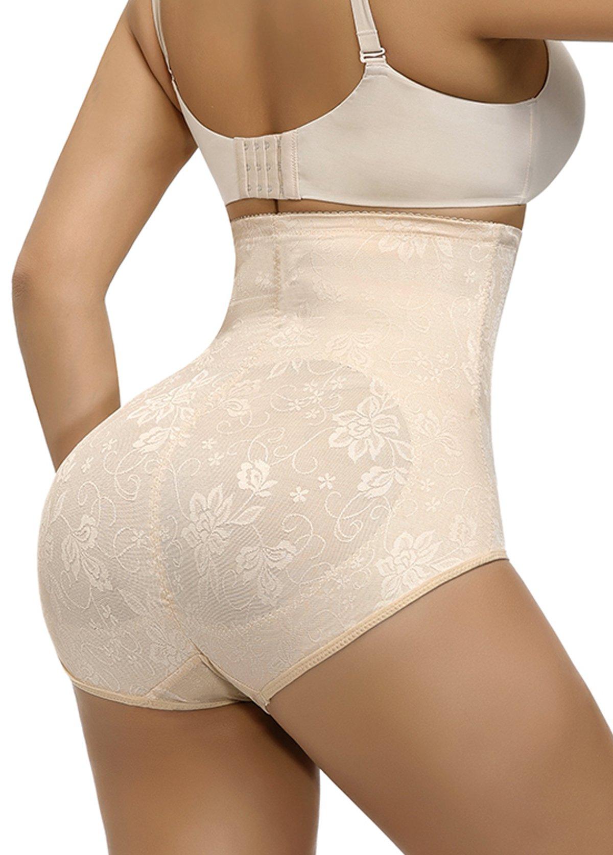 Solid Zipper Detail High Waisted Panties