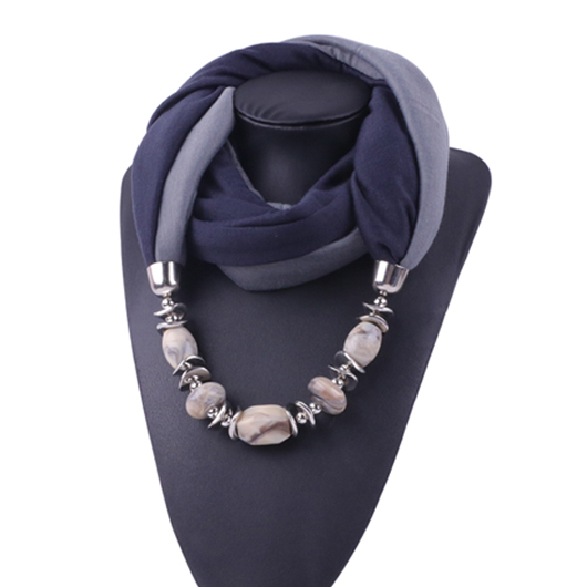 Metal Detail Contrast Scarf for Women