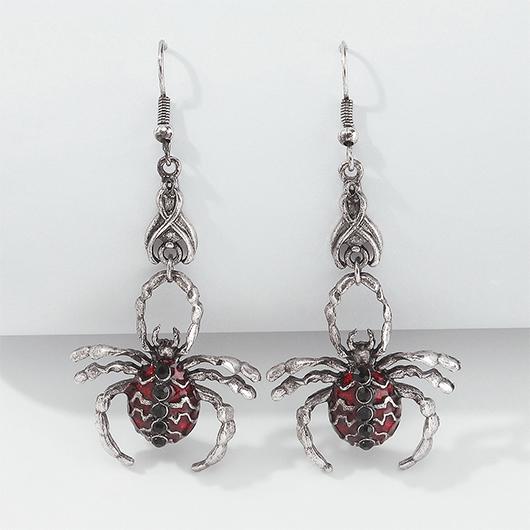 Halloween Spider Metal Detail Retro Earrings