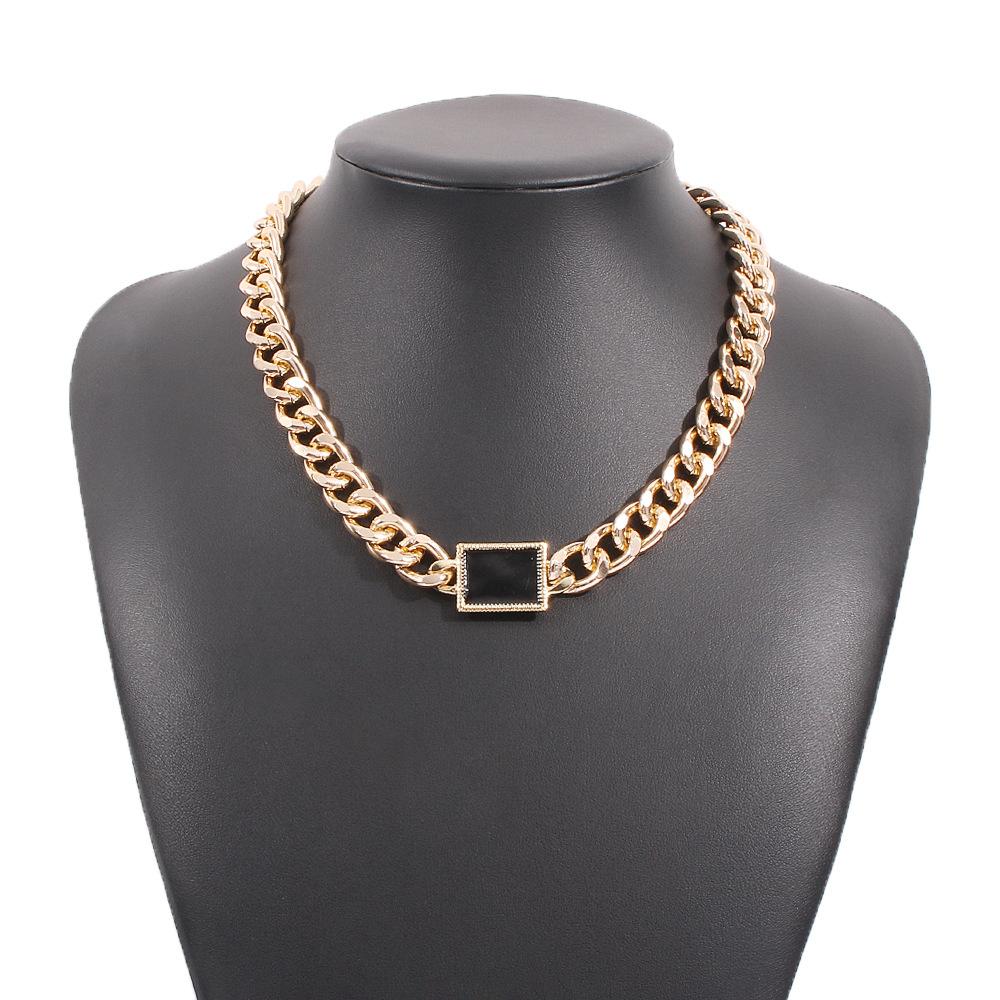 Chain Design Metal Detail Gold Necklaces