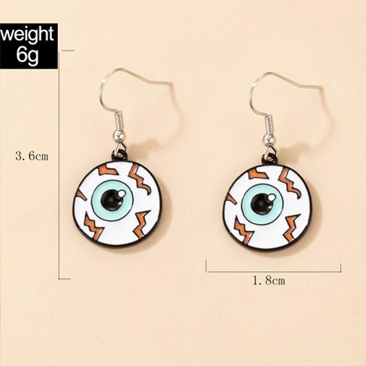 Eyeball Detail Metal Design Earring Set